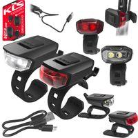 Lampa p+t KELLYS VEGA USB akumulator czarna (black)