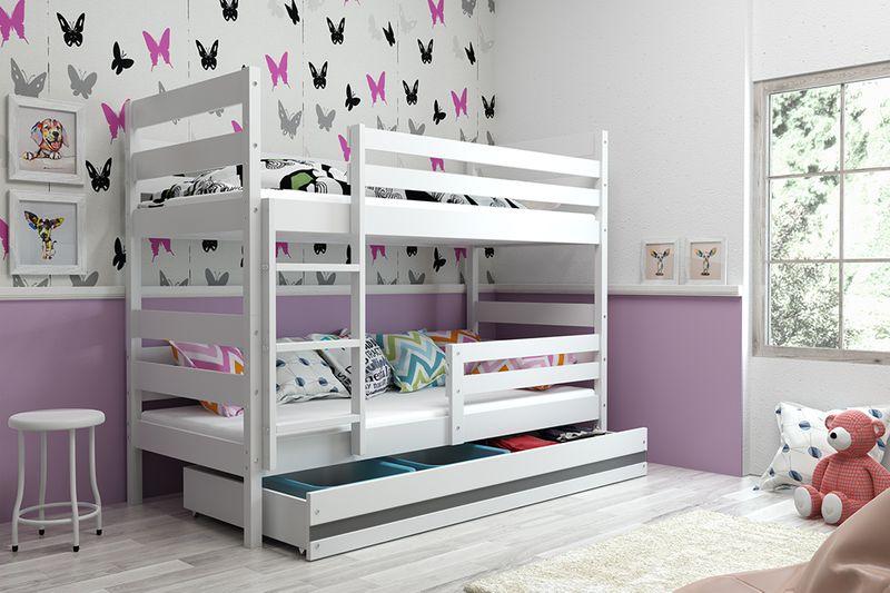 Łóżko piętrowe Eryk 200x90 dla dzieci drewniane meble dziecięce zdjęcie 9