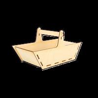 ST086 Prosty drewniany koszyk