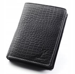 Skórzany portfel męski Zagatto klasyczny czarny