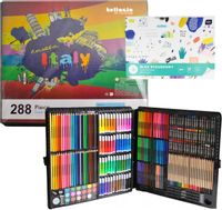 Zestaw artystyczny XXL w walizce 288el + Blok rysunkowy X73Z