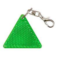 Brelok odblaskowy trójkąt Safe, zielony/biały R73236.05
