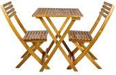Meble Balkonowe Drewniane Składane stół 2 krzesła 5099