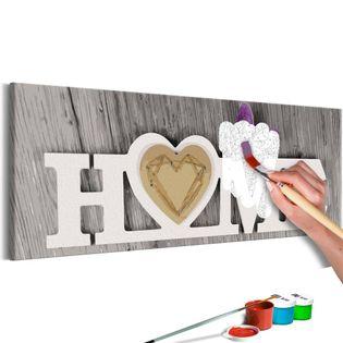 Obraz do samodzielnego malowania - Home i motyl