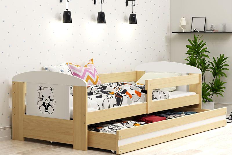 Łóżko pojedyncze FILIP 160x80 dla dzieci + SZUFLADA + BARIERKA zdjęcie 11