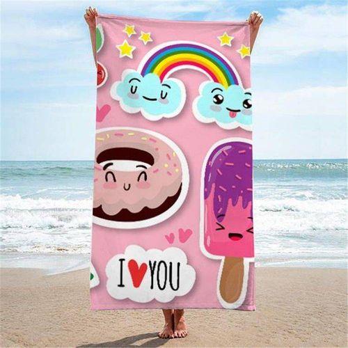 Ręcznik plażowy prostokątny mały 150x70 Sweet REC45WZ4 na Arena.pl