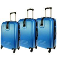 Zestaw 3 walizek PELLUCCI RGL 910 Turkusowe