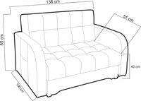 Kanapa, sofa LAGOS (amerykanka) rozkładana