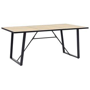 Stół do jadalni, dębowy, 180 x 90 x 75 cm, MDF