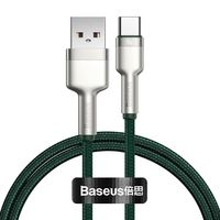 Baseus Cafule Metal Data kabel USB - USB Typ C 40 W (10 V / 4 A) SCP (Huawei SuperCharge Protocol) 1 m zielony (CATJK-A06)