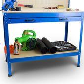 Stół Warsztatowy Garażowy Duży z Szufladą uchwyty Solidny do 100 kg zdjęcie 2