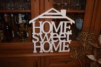 Napis 3D HOME sweet HOME z daszkiem