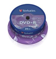 DVD+R VERBATIM 4.7GB X16 MATT SILVER (25 CAKE)