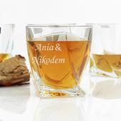 Zestaw 6 szklanek do whisky na PREZENT ŚLUB WESELE zdjęcie 4