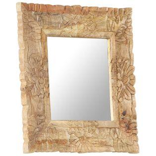 Lumarko Lustro w ramie z litego drewna mango, 50 x 50 cm