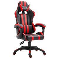 Fotel dla gracza, czerwony, sztuczna skóra
