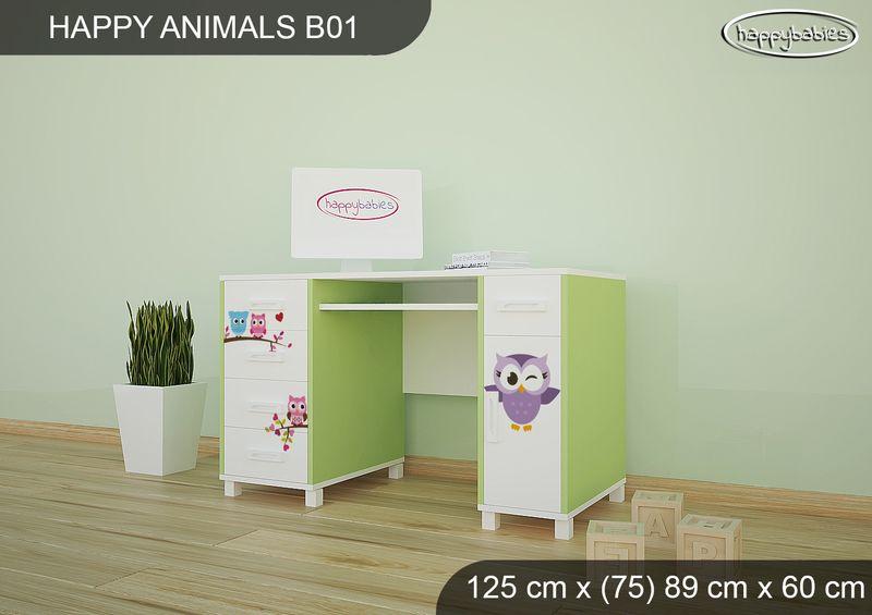 BIURKO DZIECIĘCE  HAPPY ANIMALS B01 AM01 Zielone zdjęcie 2