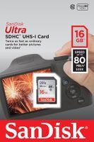Karta pamięci SDHC SanDisk ULTRA SDHC 16 GB 80 MB/s UHS-I class 10