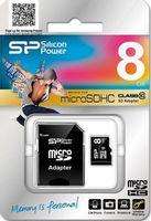 Karta pamięci MicroSDHC Silicon Power 8GB Class 10 + adapter