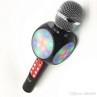 Bezprzewodowy mikrofon karaoke WS1816 3 kolory LED Kolor - Biały