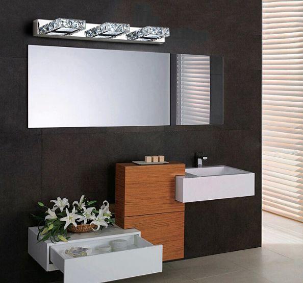 Lampa nad lustro Kinkiet łazienkowy kryształki LED 46 cm 9W - 5980-9W zdjęcie 3