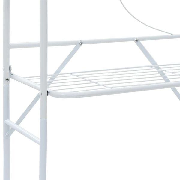 Regał Do łazienki Biały 60x33x174cm