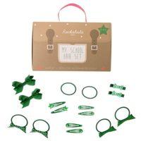 Rockahula Kids - zestaw szkolny do włosów zielony 16 szt.