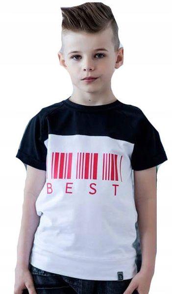 Koszulka CHŁOPIĘCA krótki rękaw 104 110 zdjęcie 1