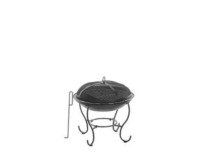 Palenisko ogrodowe na drewno grill czarne