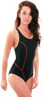 Kostium pływacki SALLY Rozmiar - Stroje damskie - 36(S), Kolor - Stroje damskie - Sally - 16 - czarny / czerwony