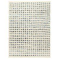 VidaXL Dywan, dżins i wełna, 160 x 230 cm, niebieski/biały