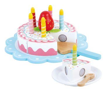 Tort urodzinowy - cały z drewna