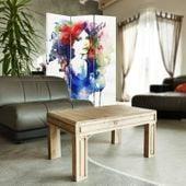 Parawan pokojowy, trzyczęściowy, jednostronny, na płótnie Canvas, Watercolor women 110x150 zdjęcie 4