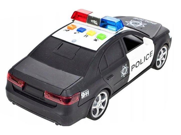 Samochód policyjny Radiowóz interaktywny dźwięki i światła Y259 zdjęcie 7