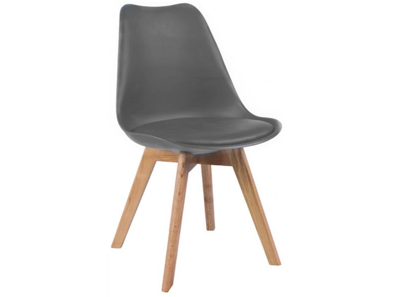 Nowoczesne krzesło KRIS FIORD CIEMNOSZARE/BUK skandynawskie DSW zdjęcie 1