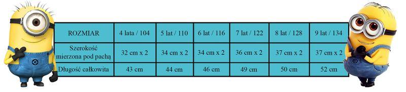 T-Shirt Bluzka Minions 8Y r128 Licencja Illumination (5901854838434) zdjęcie 3