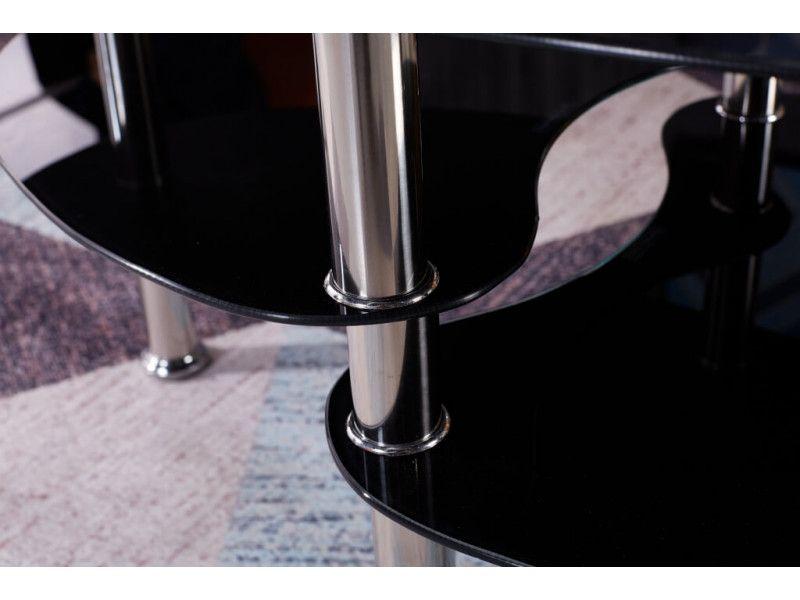 Stolik kawowy ława szklana stoliki szklane salon 110x60 blat górny 8mm zdjęcie 5