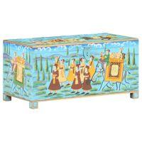 Skrzynia malowana drewno mango 80x40x40cm VidaXL
