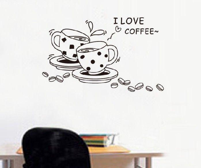 Naklejki Na ścianę ścienne Do Kuchni Kawa Filiżanki Ws 0091