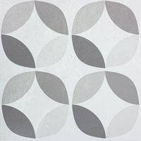 Samoprzylepna Płytka PCV Podłogowa Szara Geometryczne Wzory PP56