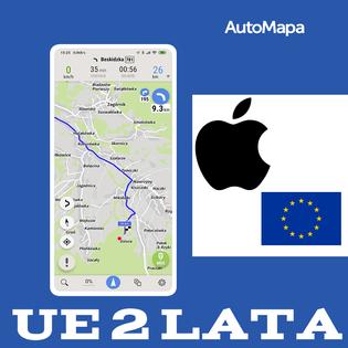 AutoMapa Europy licencja 2 lata - iOS