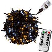 Lampki choinkowe 100 LED ciepłe/zimne, kabel zielony