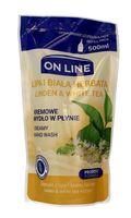 On Line Probiotic Formula -  Kremowe Mydło W Płynie - Lipa I Biała Herbata - 500 Ml (Zapas)