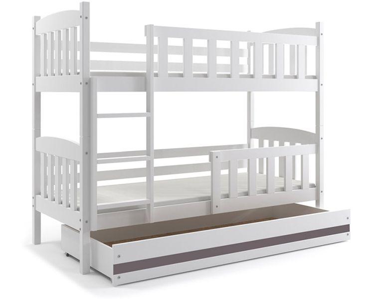 Łóżko łóżka dziecięce Kubuś piętrowe dla dwójki osób 190x80 + SZUFLADA zdjęcie 8