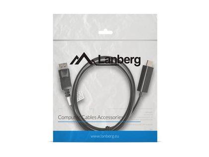 LANBERG Kabel DisplayPort - HDMI M/M 1M czarny