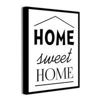 Obraz na płótnie z napisami do domu HOME SWEET HOME sentencje obrazki