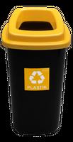 Kosz do segregacji SORTBIN 45L żółty na plastik