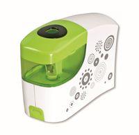 Temperówka na baterie zielono-biała