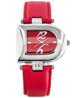 ZEGAREK DAMSKI ZEGAREK DAMSKI GINO ROSSI - 5974A  Czerwony | Srebrny