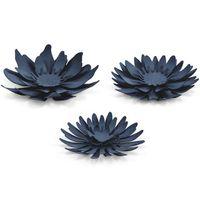 DEKORACJA KWIATEK kwiatki 3D granat papier DIY x3